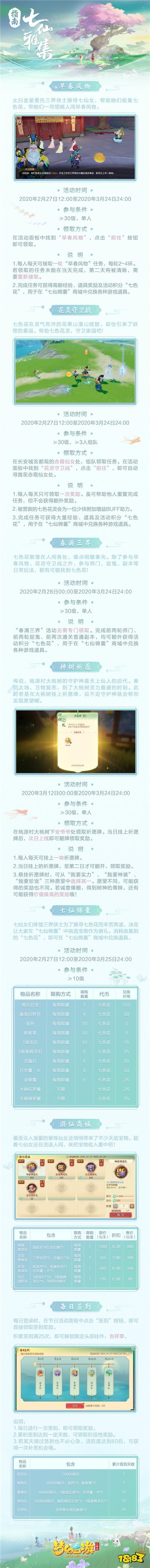 《梦幻西游三维版》七仙雅集活动指南!许愿得神装