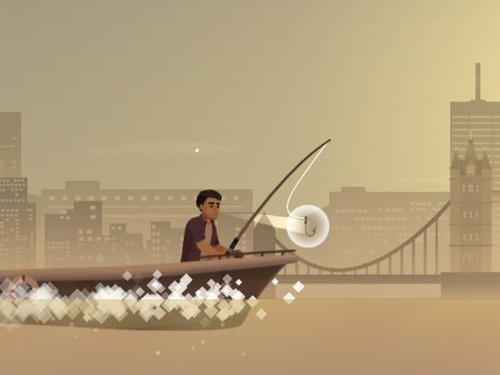 數字益智手游《2048 釣魚》一口氣釣起大魚吧!