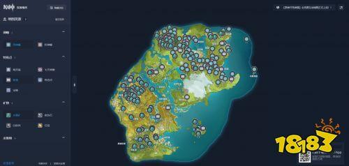 原神全地图资源点分享,原神地图标记全览图