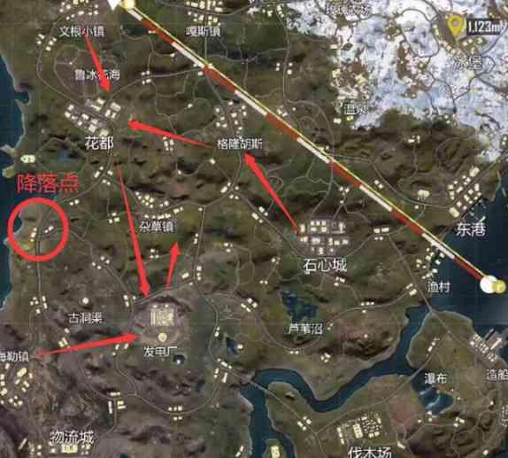 和平精英山谷卡点快速上分攻略(图2)
