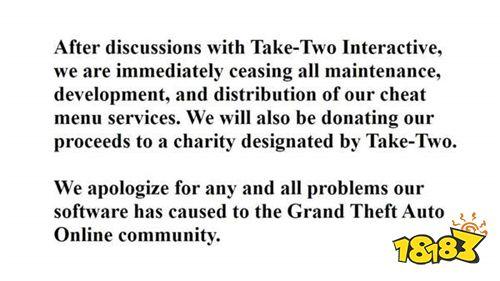《GTAOL》作弊工具网站被T2关闭 盈利将捐赠慈善机构
