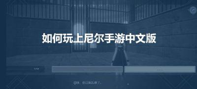 尼尔手游有中文吗?奇游神仙翻译功能推荐