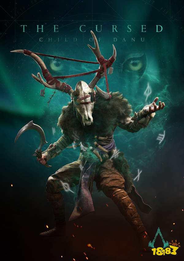《刺客:英灵殿》DLC角色酷似鹿首精《巫师》官方玩梗