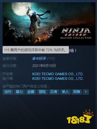 Steam《忍者龙剑传:大师合集》多半好评 原味移植、问题一堆