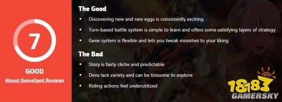 《物语2》GS评分7分 摸蛋令人愉悦、故事陈词滥调