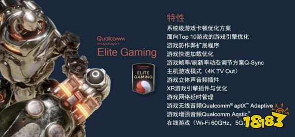 手游澎湃输出的来源,高通骁龙888 Elite Gaming,强化游戏体验