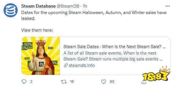 网曝Steam秋冬大促具体时间 万圣节特卖10月末开启